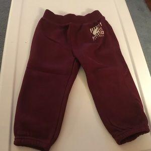 Children's Place Boys Maroon Sweatpants. Size 2T